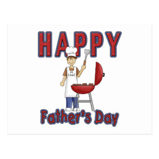 Fathers Day Chef Postcards