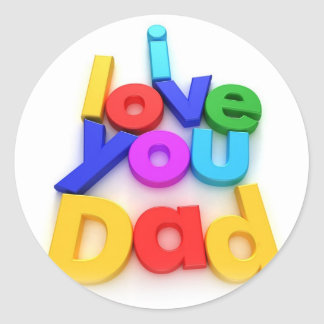 Father's Day Classic Round Sticker