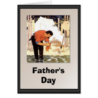 Father's day - Cleaning a fish for supper Card