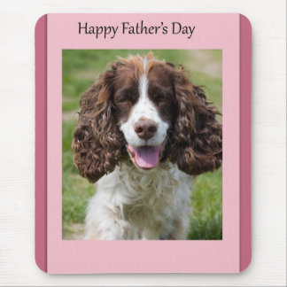 Father's Day Cocker Spaniel Dog Mouse Pad