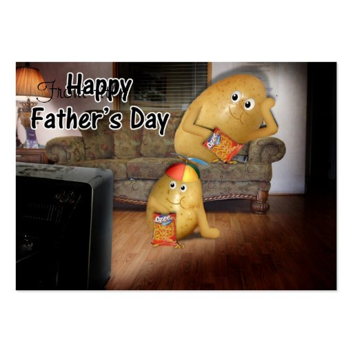 Father's Day - Couch Potatoes & the Late Show Large Business Cards (Pack Of 100)