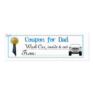 Father's Day Coupon Business Card