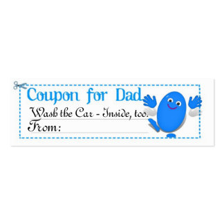 Father's Day Coupon Business Card Templates