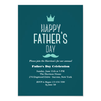Father's Day Crown Invitation