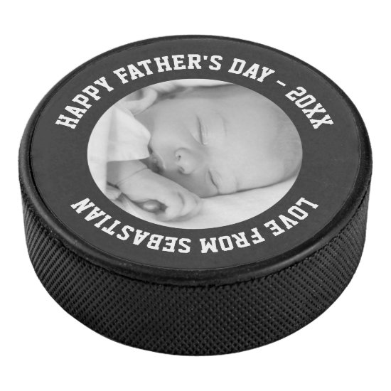 Fathers Day Custom One of a Kind Personalized Hockey Puck