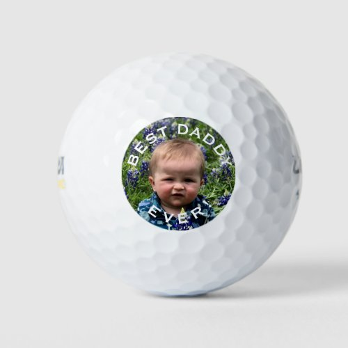 Fathers day custom photo golf balls