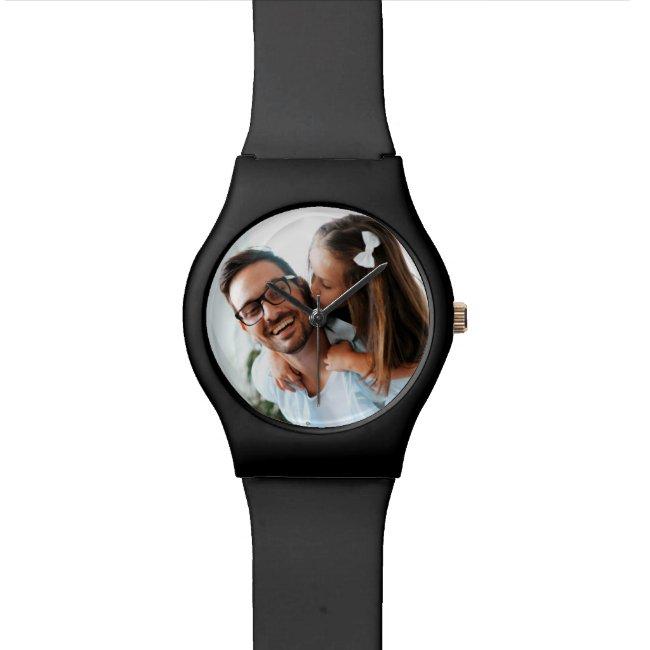 Father's Day Custom Photo Watch