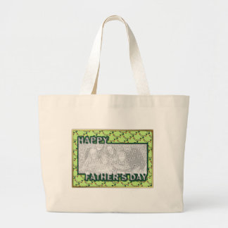 Fathers Day Cut Out ADD YOU PHOTO Frogs Canvas Bags