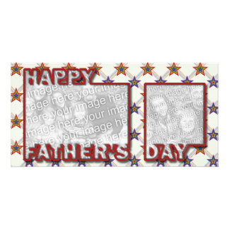 Fathers Day Cut Out ADD YOUR PHOTO Field of Stars Card