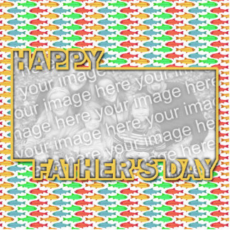 Fathers Day Cut Out ADD YOUR PHOTO Fish