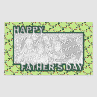 Fathers Day Cut Out ADD YOUR PHOTO Frogs Rectangular Sticker