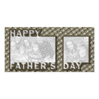 Fathers Day Cut Out ADD YOUR PHOTO Hero Badge Card