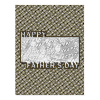Fathers Day Cut Out ADD YOUR PHOTO Hero Badge Postcard