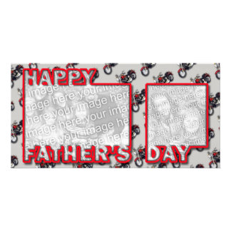 Fathers Day Cut Out ADD YOUR PHOTO Motorcycles Card