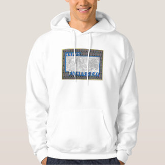 Fathers Day Cut Out ADD YOUR PHOTO Music Hoodie