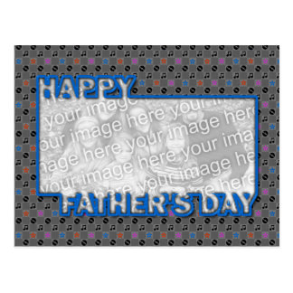 Fathers Day Cut Out ADD YOUR PHOTO Music Postcard