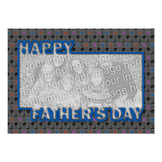 Fathers Day Cut Out ADD YOUR PHOTO Music Poster