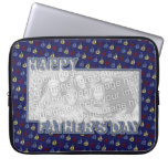 Fathers Day Cut Out ADD YOUR PHOTO Sailboats Laptop Computer Sleeve
