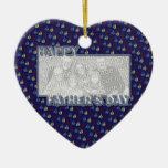 Fathers Day Cut Out ADD YOUR PHOTO Sailboats Christmas Tree Ornaments