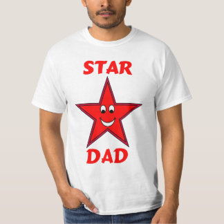 Father's Day Cute Red Star Dad T-Shirt