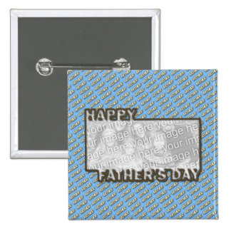 Fathers Day CutOut ADD YOUR PHOTO Polka Dot Father Pin
