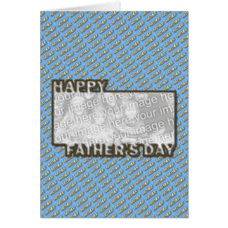 Fathers Day CutOut ADD YOUR PHOTO Polka Dot Father Stationery Note Card