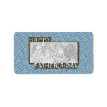 Fathers Day CutOut ADD YOUR PHOTO Polka Dot Father Address Label