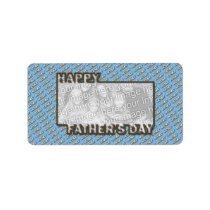 Fathers Day CutOut ADD YOUR PHOTO Polka Dot Father Label