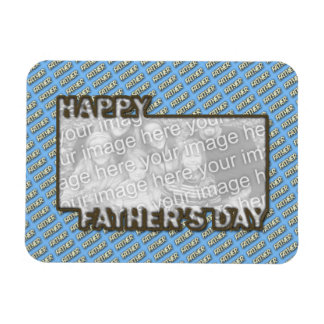 Fathers Day CutOut ADD YOUR PHOTO Polka Dot Father Magnet