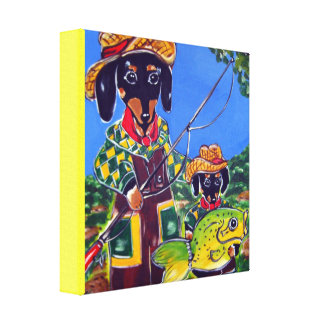 FATHER'S DAY DACHSHUND CANVAS PRINT