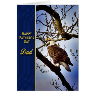 Father's Day - DAD - Bald Eagle Greeting Card