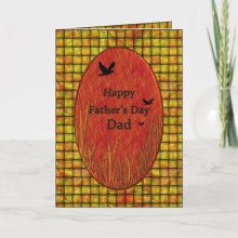 Father's Day Bambo / Birds Card - Nature feel to this father's day card for dad.