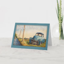 Father's Day, Dad, Blue Truck Card