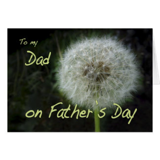 Father's Day Dad dandelion wish for Card