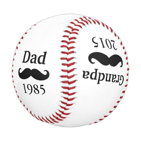 Father's Day Dad Grandpa Baby Birth Announcement Baseball