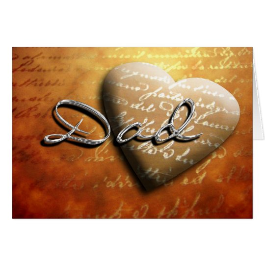 Father's Day Dad Heart Treasure Card