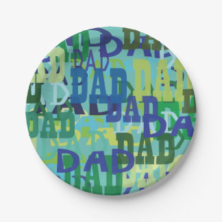 Father's Day Dad Paper Plates