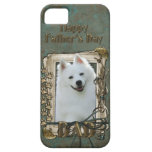 Fathers Day DAD - Stone Paws - American Eskimo iPhone 5 Cases