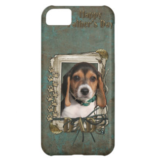 Fathers Day DAD - Stone Paws - Beagle Puppy iPhone 5C Case