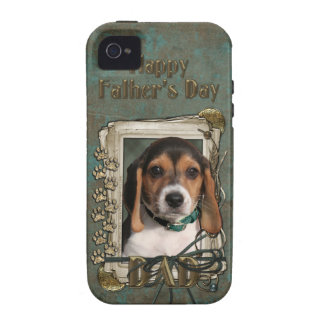 Fathers Day DAD - Stone Paws - Beagle Puppy iPhone 4 Cover