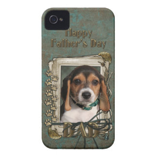 Fathers Day DAD - Stone Paws - Beagle Puppy iPhone 4 Covers