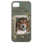 Fathers Day DAD - Stone Paws - Beagle Puppy iPhone 5 Case