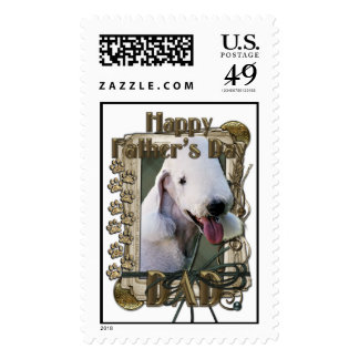 Fathers Day DAD - Stone Paws - Bedlington Terrier Stamps