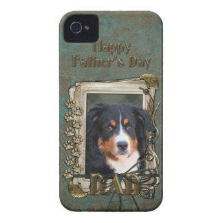 Fathers Day DAD Stone Paws - Bernese Mountain Dog iPhone 4 Case-Mate Case