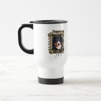 Fathers Day DAD Stone Paws - Bernese Mountain Dog Mugs