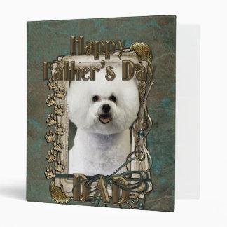Fathers Day DAD - Stone Paws - Bichon Frise Binder