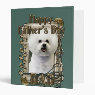 Fathers Day DAD - Stone Paws - Bichon Frise Vinyl Binders