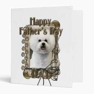 Fathers Day DAD - Stone Paws - Bichon Frise Vinyl Binder