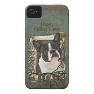 Fathers Day DAD - Stone Paws - Boston Terrier iPhone 4 Cover