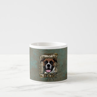 Fathers Day DAD - Stone Paws - Boxer - Vindy Espresso Cup